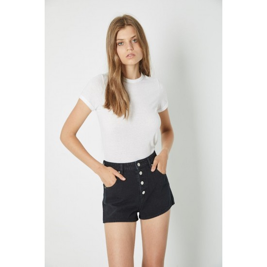 THE BUTTON BLACK DUSTERS SHORT