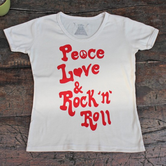PEACE, LOVE & ROCK 'N  ROLL 70'S TEE