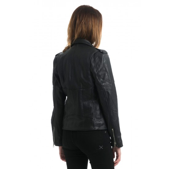 THE BLACK WOMENS BIKER JACKET