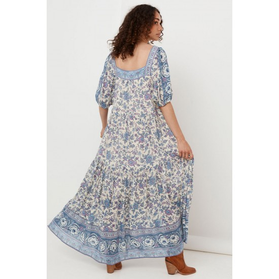 THE SKY FOLK SONG SQUARE NECK GOWN