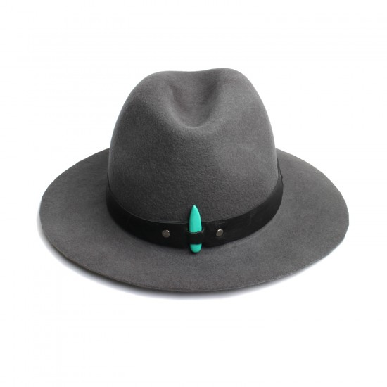 THE GREY SIDNEY FEDORA FELT HAT