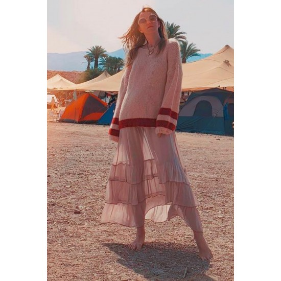 THE WILLOW STRIPED BOAT PUFFY SWEATER