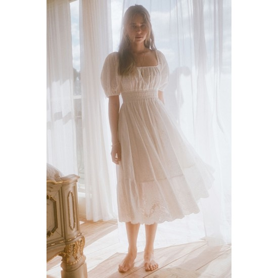 THE CAPULET BRODERIE ANGLAISE SOIREE DRESS