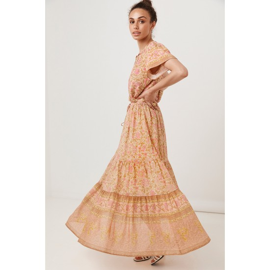 THE PEACH BLOSSOM LOVE STORY MAXI SKIRT