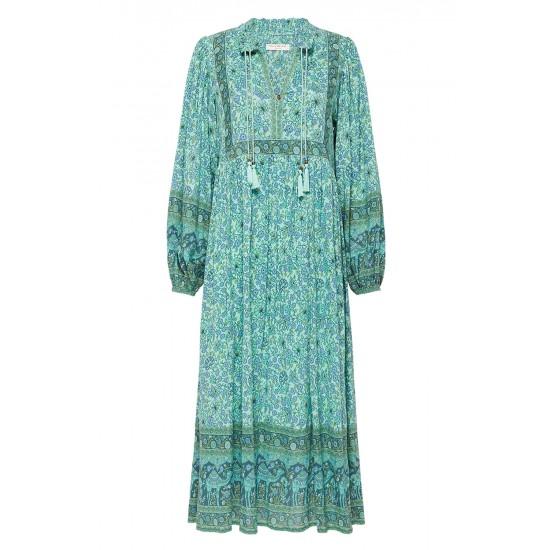 THE TURQUOISE SUNDOWN BOHO DRESS